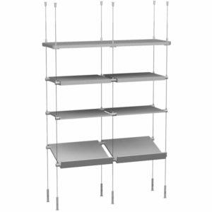 hanging shelves shelving cable suspension systems. Black Bedroom Furniture Sets. Home Design Ideas