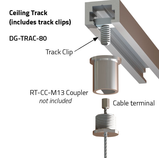 Art Ceiling Track Cable Suspension