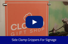 Side Clamp Grippers For Signage