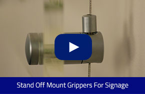 Stand Off Mount Grippers For Signage