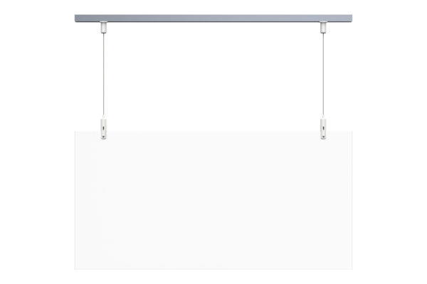 plexiglass shield track hanging kit