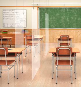 classroom hanging sneeze guard exampl